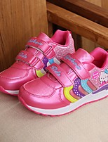 cheap -Girls' Shoes Leatherette Spring Fall Comfort Sneakers for Casual Pink Peach Purple