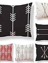 cheap -6 pcs Textile Cotton/Linen Pillow Cover,Floral Geometric Art Deco