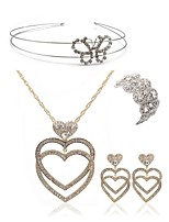 cheap -Women's Headwear Bridal Jewelry Sets Rhinestone Imitation Diamond Alloy Geometric Butterfly Heart Fashion European Wedding Party Body