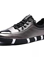 Недорогие -Муж. обувь Резина Весна Осень Удобная обувь Кеды для на открытом воздухе Белый Черный Серебряный