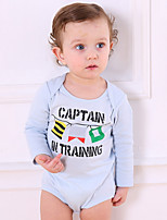 cheap -Baby Kid's Casual/Daily Striped One-Pieces,Cotton Spring Boutique Long Sleeve Royal Blue Khaki Light Blue Purple Gray