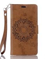 abordables -Coque Pour Sony Portefeuille Porte Carte Avec Support Clapet Relief Coque Intégrale Mandala Dur Cuir PU pour Sony Xperia XA Sony Xperia X