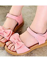 cheap -Girls' Shoes Leatherette Spring Fall Comfort Flower Girl Shoes Sandals for Casual Pink White
