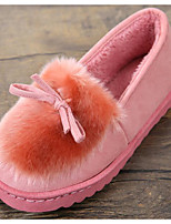 economico -Da donna Scarpe Vellutato Inverno Autunno Comoda Pantofole e infradito Piatto per Casual Nero Grigio Rosso Rosa