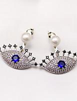 abordables -Femme Boucles d'oreille goujon Strass Perle imitée Imitation de perle Strass Bijoux Mariage Soirée Bijoux de fantaisie