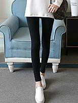preiswerte -Damen Stilvoll Mittel Polyester Solide Einfarbig Legging,Schwarz Grau