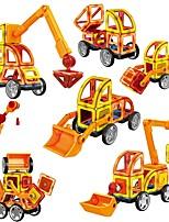 preiswerte -Magnetische Bauklötze Spielzeuge Auto Fahrzeuge Transformierbar 60 Stücke