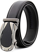 cheap -Men's Genuine Leather Alloy Waist Belt,Black Brown Work Casual Solid Stylish