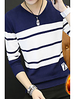 cheap -Men's Pullover - Striped V Neck
