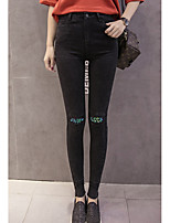 cheap -Women's Polyester Medium Solid Color Legging,Solid Patchwork This Style is TRUE to SIZE.
