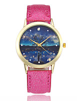 cheap -Women's Fashion Watch Wrist watch Chinese Quartz Casual Watch Leather Band Colorful Black White Blue Red Brown Pink Rose