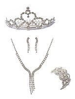 preiswerte -Damen Tiara Braut-Schmuck-Sets Strass Diamantimitate Aleación Geometrische Form Linienform Modisch Europäisch Hochzeit Party