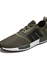 cheap -Men's Shoes Tulle Spring Fall Comfort Sneakers for Casual Outdoor Black Army Green Red
