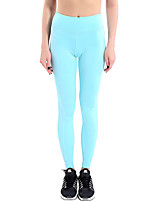 cheap -Women's Running Tights Quick Dry Breathable Sweat-wicking Tights Bottoms Yoga Running/Jogging Spandex Tight Black Sky Blue Blue Pink S M