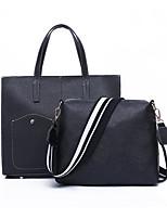 cheap -Women's Bags PU Bag Set 2 Pieces Purse Set Zipper for Casual Office & Career All Seasons Blue Black Red Brown
