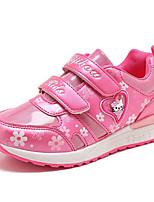 Недорогие -Девочки обувь Дерматин Весна Осень Удобная обувь Кеды для Повседневные Лиловый Персиковый Розовый