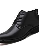 Недорогие -Муж. обувь Полиуретан Весна Осень Удобная обувь Туфли на шнуровке для на открытом воздухе Черный