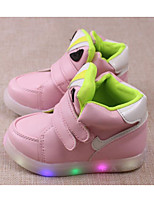 cheap -Girls' Shoes Leatherette Spring Fall Comfort Sneakers for Casual Pink Green Black White