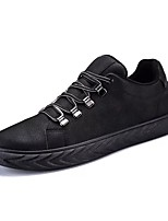 cheap -Men's Shoes Synthetic Microfiber PU PU Leatherette Spring Fall Comfort Sneakers for Casual Black/White Black