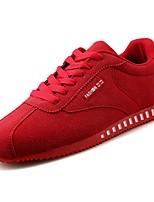 Недорогие -Для мужчин обувь Полиуретан Весна Осень Удобная обувь Кеды для Черный Серый Красный