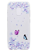 cheap -Case For Samsung Galaxy A8 Plus 2018 A8 2018 Transparent Pattern Back Cover Butterfly Soft TPU for A3(2017) A5(2017) A7(2017) Galaxy A8