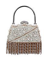 preiswerte -Damen Taschen Polyester Abendtasche Kristall Verzierung Perlen Verzierung Quaste für Hochzeit Veranstaltung / Fest Alle Jahreszeiten Weiß