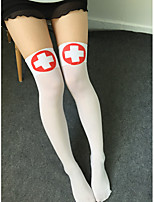 cheap -Women's Thin Stockings,Polyester 1pc White