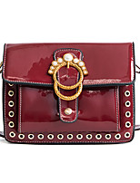 cheap -Women's Bags PU Shoulder Bag Beading for Event/Party Casual All Seasons Purple Red Black Green