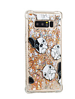 cheap -Case For Samsung Galaxy Note 8 Flowing Liquid Pattern Back Cover Dog Glitter Shine Soft TPU for Note 8