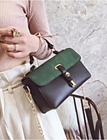 cheap -Women Bags PU Tote Buttons Zipper for Casual All Season Brown Green Blue