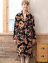 abordables -Costumes Pyjamas Homme,Fleur Epais Polyester Noir Vin Bleu royal
