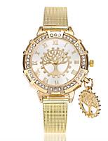 Недорогие -Жен. Модные часы Наручные часы Китайский Кварцевый Имитация Алмазный сплав Группа На каждый день Золотистый