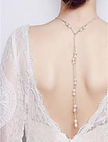 abordables -Mujer Gota Clásico Bohemio Collares con colgantes Perla artificial Cristal Legierung Collares con colgantes , Boda Fiesta