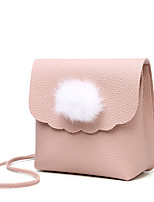 cheap -Women Bags PU Shoulder Bag Feathers / Fur for Shopping Casual All Season Gray Blushing Pink Red Black Blue