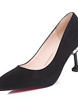preiswerte -Damen Schuhe Gummi Frühling Herbst Komfort High Heels Stöckelabsatz für Draussen Schwarz Khaki