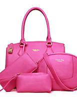 cheap -Women Bags PU Bag Set 4 Pieces Purse Set Tassel for Casual Outdoor Winter Fall Fuchsia Black Blue