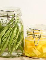 Недорогие -Стекло Высокое качество Хранение продуктов питания 2шт Кухонная организация