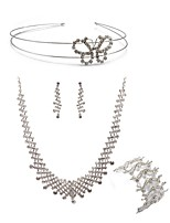 cheap -Women's Headwear Bridal Jewelry Sets Rhinestone Fashion European Wedding Party Imitation Diamond Alloy Body Jewelry 1 Necklace 1 Bracelet