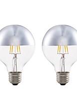 Недорогие -GMY® 2pcs 4 Вт. 350 lm E27 LED лампы накаливания G80 4 светодиоды COB Декоративная Светодиодные фонарики Тёплый белый AC 220-240 V