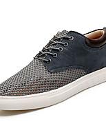 Недорогие -Муж. обувь Тюль Весна Осень Удобная обувь Кеды для Повседневные Темно-синий Серый