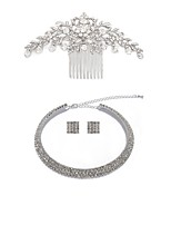 cheap -Women's Bridal Jewelry Sets Wreaths Rhinestone Fashion European Wedding Party Imitation Diamond Alloy Geometric Body Jewelry 1 Necklace