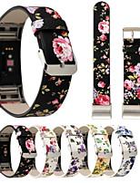 preiswerte -Uhrenarmband für Fitbit Charge 2 Fitbit Handschlaufe Moderne Schnalle Echtes Leder