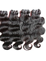 cheap -4bundles 200g lot on sale brazilian virgin human hair extensions weaves bundles body wave natural black color 50g/bundle