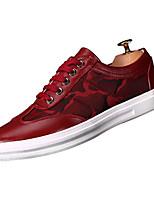 economico -Per uomo Scarpe PU (Poliuretano) Di pelle Inverno Autunno Comoda Sneakers per Casual Nero Rosso Blu