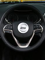 cheap -Automotive Steering Wheel Decor Frame DIY Car Interiors For Jeep Grand Cherokee Cherokee Aluminium Alloy