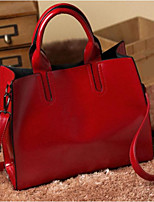 cheap -Women Bags PU Polyester Tote Zipper for Casual All Season Red Black