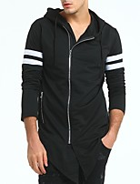 cheap -Men's Daily Sports Hoodie Color Block Hooded Micro-elastic Polyester Long Sleeve Spring/Fall