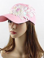 cheap -Women's Work Casual Cotton Sequined Sun Hat Baseball Cap - Solid Colored Floral/Botanical, Stylish Embroidery