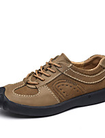 cheap -Shoes Cowhide Leather Spring Fall Comfort Sneakers for Casual Coffee Brown