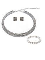cheap -Women's Bridal Jewelry Sets Strand Bracelet Rhinestone Fashion European Wedding Party Imitation Pearl Imitation Diamond Alloy Geometric